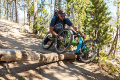 Maneuvering obstables with an off-road wheelchair (YellowstoneNPS) Tags: ada grandcanyonoftheyellowstone sublimepointtrail ynp yellowstone yellowstonenationalpark accessibility offroadwheelchair