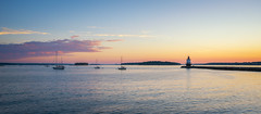 Casco Bay Sunrise (Mike Ver Sprill - Milky Way Mike) Tags: casco bay fore river maine portland spring point ledge light fort pruble sunrise landscape seascape beautiful panorama nikon d810 water dawn scenic