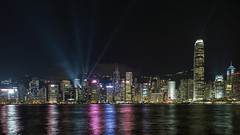 Laser Light (syf22) Tags: hongkong harbour water victoriaharbour lightshow symphonyoflights displays laser show dark dusk evening colourful night laserlights modern buildings architecture cityskyline moderncity fareast rainbow dock shelter shore waterfront seafront bay cove inlet earthasia