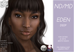 Eden skin display pic-deep (Alea Lamont) Tags: ndmd ethnic skins black female woman african afro american women catwa bento vista head