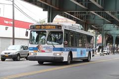 IMG_1624 (GojiMet86) Tags: mta nyc new york city bus buses 2007 orion vii genii hlf 3665 subway shuttle 31st street hoyt avenue