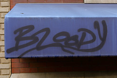 Bloody (Rich Renomeron) Tags: fujifilmxt20 fujinonxc1650mmf3556oisii awning dc graffiti washington
