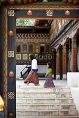 Tashichho Dzong Sisters (William J H Leonard) Tags: thimphu bhutan bhutanese southasia southasian summer sunny travel travelphotography travelling tashichhodzong buddhist buddhism buddhisttemple people portrait portraiture portraits building