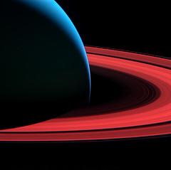 Saturn false (digitalvosem) Tags: cassini iss planet saturn observation satellite mission pustota digitalvosem planet6art planet6 space sky deep geometry solar system colored lunar rings blur