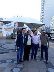 11/09/18 - No centro de Bento Gonçalves com o candidato a deputado estadual Vinícius Medeiros, com Filipe Toledo e o vereador Gilmar Pessutto.