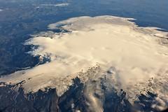 Myrdalsjökull from the Air (qatbart) Tags: iceland volcano gletsjer