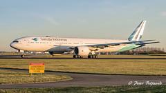 PK-GID  Boeing 777-300 - Garuda Indonesia (Peter Beljaards) Tags: nikond5500 nikon7003000mmf4556 aviationphotography airplane garuda pkgid boeing777300 777 boeing777 aircraft