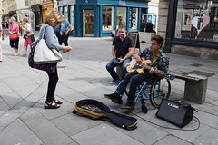 DSC_0020 (richardclarkephotos) Tags: simon john from cornwall guitar busking tour south england bath somerset uk spotty herberts signwriting guitarbitz cafe shops small retailers guildhall marketowl owls minerva