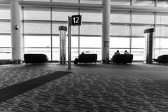 The Distance Between Us (_city_of_broken_dreams_) Tags: nikon nikond750 d750 20mm wideangle primelens monochromatic monochrome bw noir blackandwhite noiretblanc airport architecture winnipeg manitoba canada
