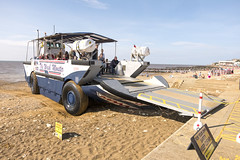The Wash Monster (simonannable) Tags: northnorfolk fujifilmxt2 norfolk hunstanton summer vacation amphibious assaultcraft tourism uk england beach coastal transport truck landingcraft