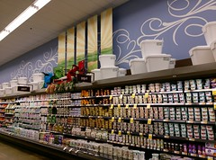 Left side wall, looking quite spiffy! (l_dawg2000) Tags: 2018remodel cordova delicatesen grandreopening grocery grocerystore healthbeauty kroger labelscar marketplace meats memphis pharmacy produce remodel retail scriptdécor shelbycounty starbucks supermarket tennessee tn trinitycommons cordovamemphis unitedstates usa