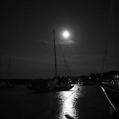Night harbor (svensmail) Tags: segling bw svartvit sailingboat sailing segelbåt