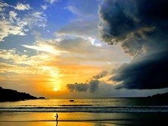 Patong beach painted in Riot of colours (sladdha) Tags: patong beach phuket thailand sunset goldenwaves seabeach sea walk nature andamansea patongbeach sky clouds waves mesmerising