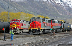BNSF Railway and Utah Railway Partnership (jamesbelmont) Tags: railway utahrailway bnsfrailway mk503 emd ge c449w provo utah