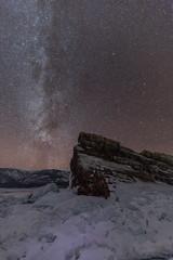 The Milky Way (Andrew G Robertson) Tags: lake baikal siberia milky way astro night sky yelinka rock russia winter ice frozen olkhon island irkutsk