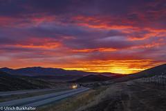 I-84 sunset (Ulrich Burkhalter) Tags: 20180827 utah roadtrip sunset imgp95243pedited1 groupenuagesetciel