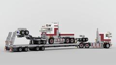 K104 + K100E and Drake Swing Flatbed (John D O'Shea) Tags: kenworth k104 k100e lego drake truck trailer australia moc
