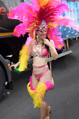 DSC_7623a Notting Hill Caribbean Carnival London Exotic Colourful Costume Pink and Yellow Ostrich Feather Headdress Girls Dancing Showgirl Performers Aug 27 2018 Stunning Ladies (photographer695) Tags: notting hill caribbean carnival london exotic colourful costume girls dancing showgirl performers aug 27 2018 stunning ladies pink yellow ostrich feather headdress