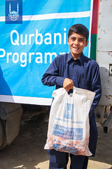 Qurbani meat distribution in Afghanistan in 2018.
