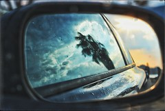 Summer rain (PattyK.) Tags: igoumenitsa thesprotia greece grecia griechenland hellas ellada europe europeanunion balkans summer august snapseed nikond3100 ηγουμενίτσα θεσπρωτία ελλάδα ήπειροσ καλοκαίρι αύγουστοσ reflection mirror sky clouds sunset sunsetlight ηλιοβασίλεμα σύννεφα φοίνικασ αντανακλάση καθρέφτησ αυτοκίνητο car drepano δρέπανο