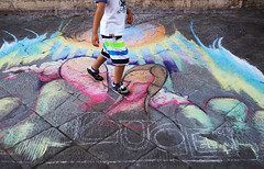 Vibrancy (Angelk32) Tags: streetart chalkart europe siena italy southern travelitaly tuscany primelens cobblestone vibrant colourful southerneurope 17mmf18 olympus em10 mirrorless microfourthirds toscana italia