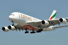 A6-EOF  LAX (airlines470) Tags: msn 171 a380861 a380 a380800 emirates lax airport inout burger a6eof
