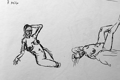 Red Book Sketchs Page 1 (ETt_) Tags: nude naked sketchs drawing posing livefigure live woman fast art doodle