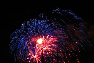 Wonderful blue firework