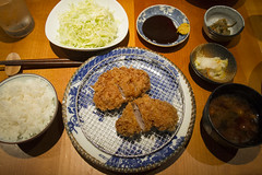 Butagumi Shokudo standard pork loin set (roboppy) Tags: tokyo japan roppongi minato butagumishokudo butagumi roppongihills katsu tonkatsu