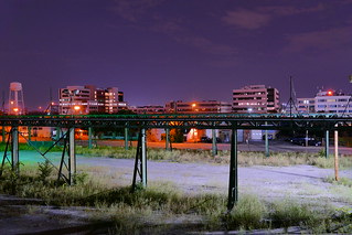Midnight View From a Long Unused Shipping Yard