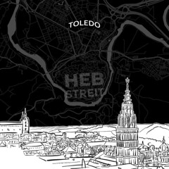 [Maps and Sketches] Toledo skyline with map (Hebstreits) Tags: alcantara architecture areal background black building business city citygate citywalls cityscape design destination detailed drawing drawn hand history illustration landmark line map medieval nightlife outline panorama pencil plan poster puertadebisagra road roof sights silhouette sketch skyline skylinewithmap spain style tagusriver toledo top tourism travel urban vector white