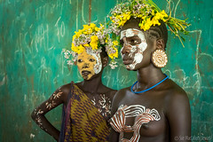 Suri girls (Sue MacCallum-Stewart) Tags: africa ethiopia omovalley suri tribes girls portraits