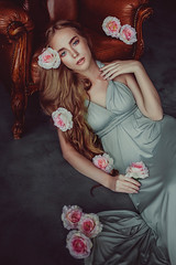 **** (TatianaAntoshina) Tags: portrait postprocessing people person flowers roses dress beautiful