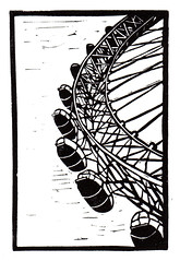 London Eye - Linocut (lwdphoto) Tags: lance duffin lancewadeduffin lanceduffin london londoneye england english britain british blockprint print printmaking ink art linocut