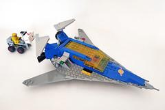 NCS LL924 bis Space Transporter (John C. Lamarck) Tags: lego ncs spaceship transporter fret classic space
