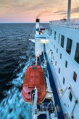 Traveling on the Baltic Sea (Of Light & Lenses) Tags: ferryboat ship balticsea ocean rescueboat northeurope mzuiko4012100mmpro