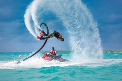 Fly board and splash (icemanphotos) Tags: extreme sport water sea fly board jetski