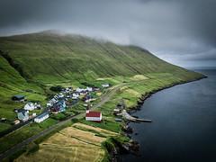 Last Village (Fabian Fortmann) Tags: drone dji mavic pro faroe islands mood moody landscape seascape coast church village
