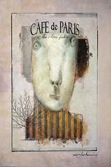 Bistro Poster (jimlaskowicz) Tags: jimlaskowicz artistic painterly impressionistic art surreal whimsical caricature france paris cafe bistro