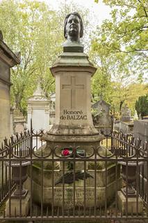 Honore de Balzac, Père Lachaise Cemetery, Paris France