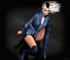 Lori Novo (Lori Novo) Tags: lorinovo secondlife avatar virtual blogger tableauvivant hair thearcade gacha tetra jumpsuit boots blue girl