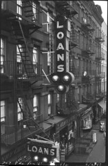 New York City (jericl cat) Tags: neon sign vintage slumped glass 1940 l 747 9th street pams tackle atlantic pacific storefronts fire escape shop shops storefront schaffers specialty store hells kitchen tenement apartment housing nyc newyork city streetscape bulb