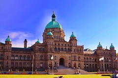 Parliament Buildings in Victoria, Vancouver island, BC, Canada (Veselina Dimitrova) Tags: travelphotography picphotography picture photo photooftheday pictureoftheday picoftheday bestpic bestoftheday downtown city inthecity travel travelling canada buildings britishcolumbia victoria parliament parliamentbuildings