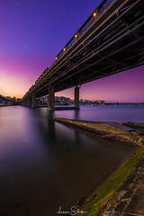 Iron Cove Bridge Sunset (leonsidik.com) Tags: leon sidik sunset fujifilm iron cove bridge sea landscape sun purple blue sky sydney australia nsw newsouthwales 2018