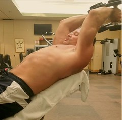 triceps (ddman_70) Tags: shirtless abs pecs workout gym