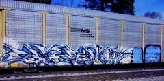(timetomakethepasta) Tags: freight train graffiti art ns autorack norfolk southern