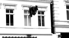 My hometown ! Oldenburg, Lower Saxony ( Niedersachsen ), Germany  - in the pedestrian zone ! (tusuwe.groeber) Tags: street strase shot photographing aufnahme ablichtung oldenburg sony nex7 lowersaxony niedersachsen germany fusgängerzone pedestrianzones greenspirits akrobatik show aufführung akrobaten tsghattensandkrug acrobatics acrobats sportacrobatics acrobaticgymnastics sportakrobatik langestrase schwarz weis black white blanco negro sw bw