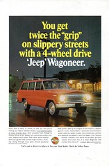 1966 Jeep Wagoneer 4WD Kaiser Jeep Corporation USA Original Magazine Advertisement (Darren Marlow) Tags: 1 4 6 9 19 66 1966 k kaiser j jeep w wagonerr 4wd car c cool collectible collectors classic a automobile v vehicle u us s usa united states american america 60s