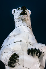 abominable (pbo31) Tags: sanfrancisco california color night dark black nikon d810 september 2018 summer boury pbo31 polar bear giant white art embarcadero monster burningman globalclimateactionsummit car metal auto sculpture