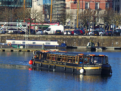 Floating Grace, Salthouse Dock, Liverpool, England (teresue) Tags: 2017 uk unitedkingdom greatbritain england merseyside liverpool salthouse dock salthousedock floatinggrace canalboat boat